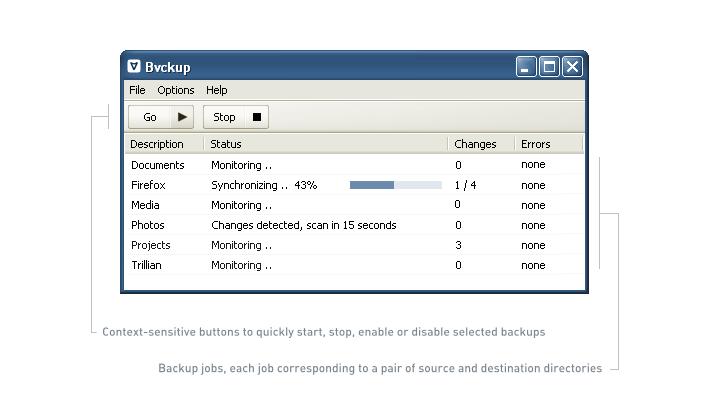Bvckup full screenshot